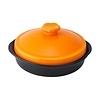 イン・ザ・ムード 炎の器 ヘルシースムース鍋 オレンジ