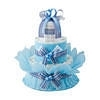 おむつdeケーキ 二段 ブルー