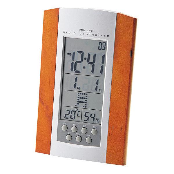 アデッソ 掛置兼用電波時計