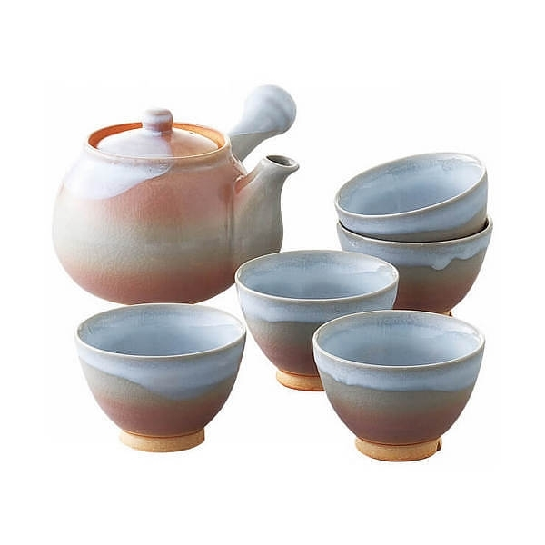 萩焼 茶こし付茶器揃