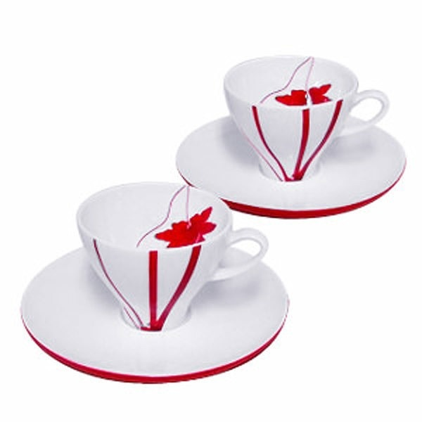 M-style Fall Espresso Cup & Saucer Set