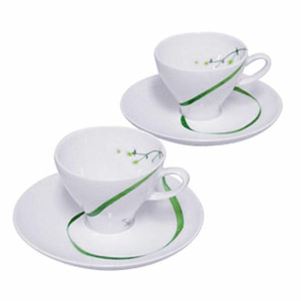 M-style Botanical Poem Espresso Cup & Saucer Set