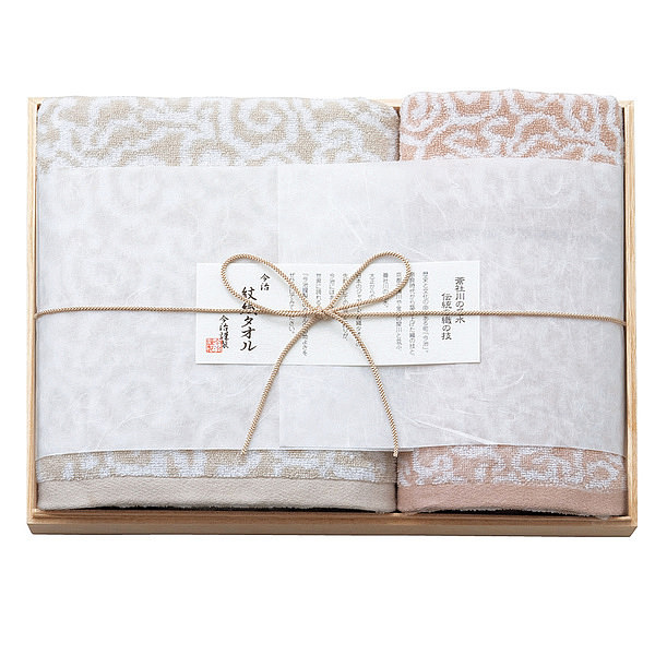 今治屋 今治謹製 紋織タオル 木箱入りタオルセット