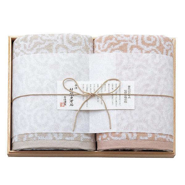 今治屋 今治謹製 紋織タオル 木箱入りバスタオル 2枚セット