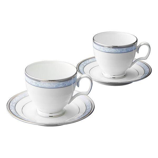 ノリタケ ハンプシャープラチナ コーヒーティー碗皿ペアセット