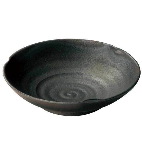 長谷園 伊賀焼 いぶし 変形浅鉢