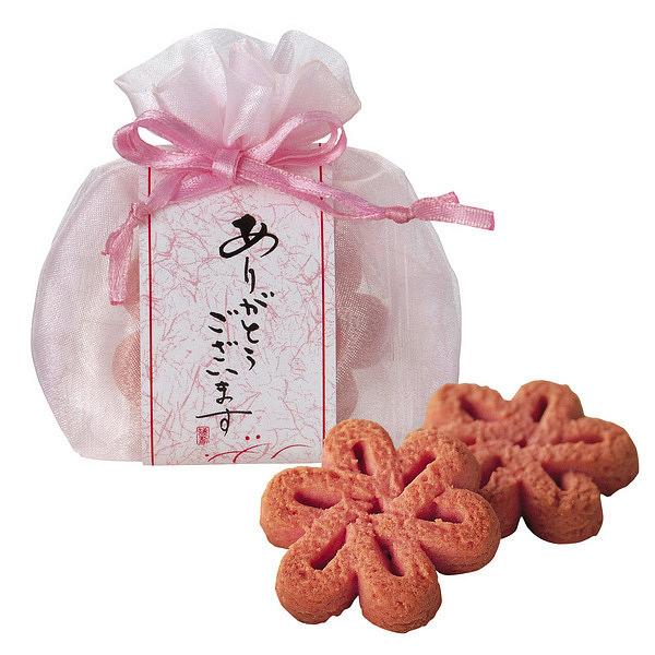 巾着袋 花いちごクッキー