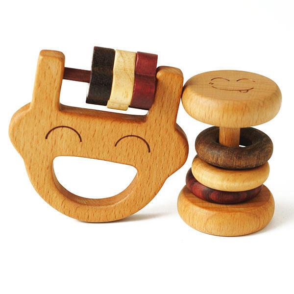 森のささやきシリーズ Papa rattle set