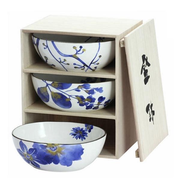 藍華 三つ組鉢