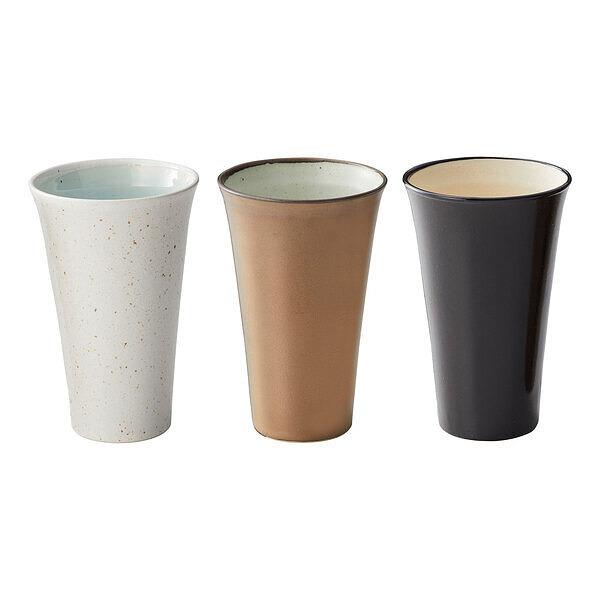 三種の泡立ちビアカップ