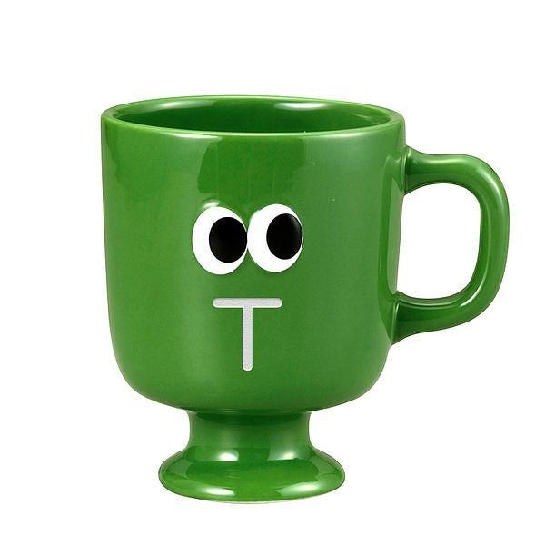 アルファベットマグカップ おめめ グリーン