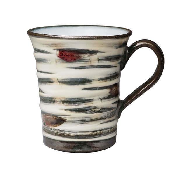 純道 色釉刷毛 切立マグカップ