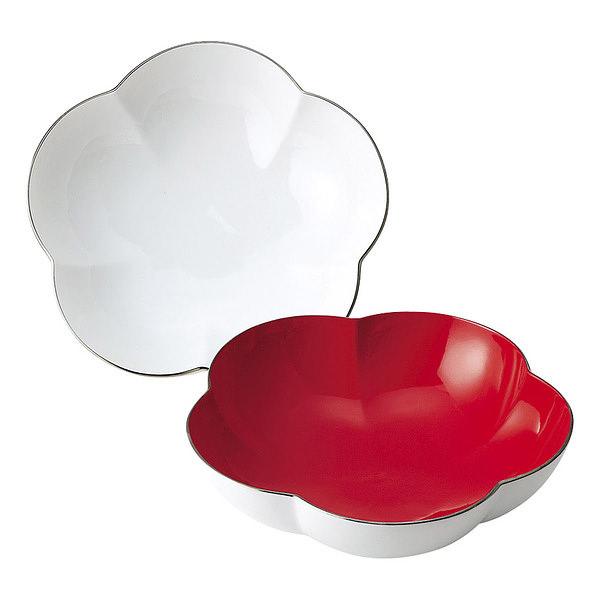 大安吉日 紅白梅型組福寿鉢