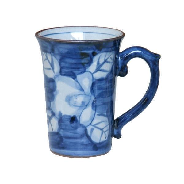 鐡山 鉄椿 マグカップ ブルー