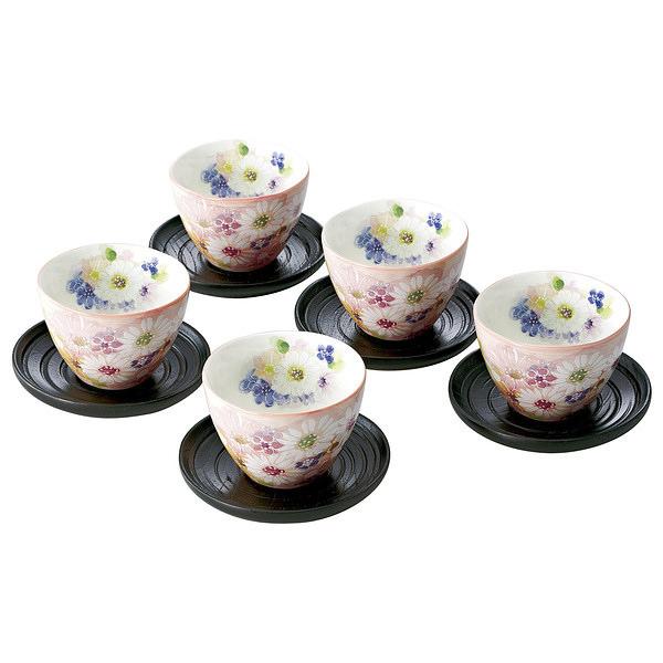 花づくし 茶托付煎茶