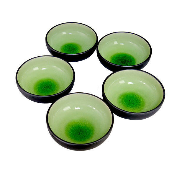 美濃焼 緑彩小鉢揃
