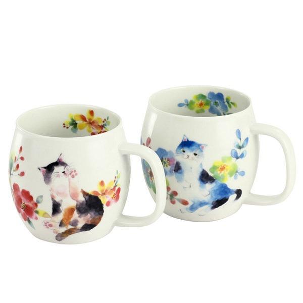 花猫 ペアマグカップ