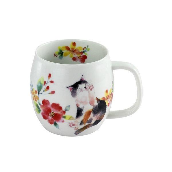 花猫 マグカップ レッド