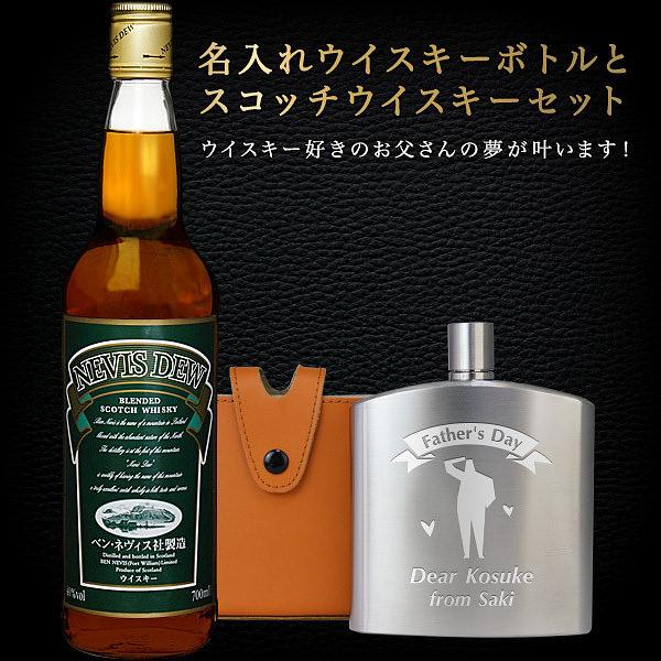 名入れウイスキーボトルとスコッチウイスキーセット
