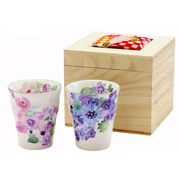 花工房 ペアフリーカップ (ちりめん木箱)