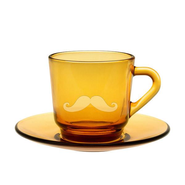 ヒゲ デザイン コーヒーカップ&ソーサー
