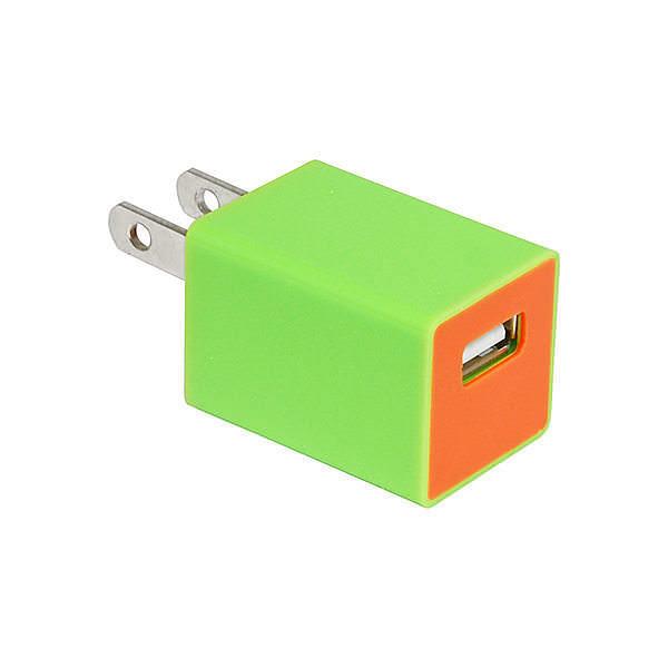 USB-ACアダプター ライムグリーン