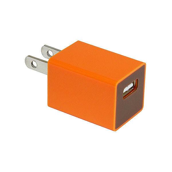 USB-ACアダプター オレンジ