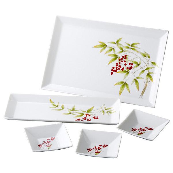 香蘭社 南天 角皿セット
