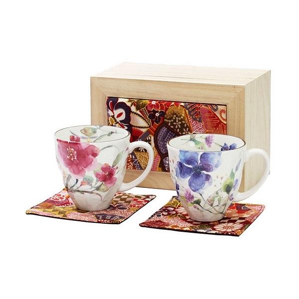 花水彩 ペアマグカップ (ちりめん木箱)