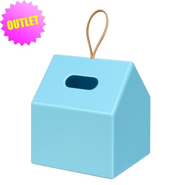 ロールティッシュペーパーボックス ブルー (アウトレット)