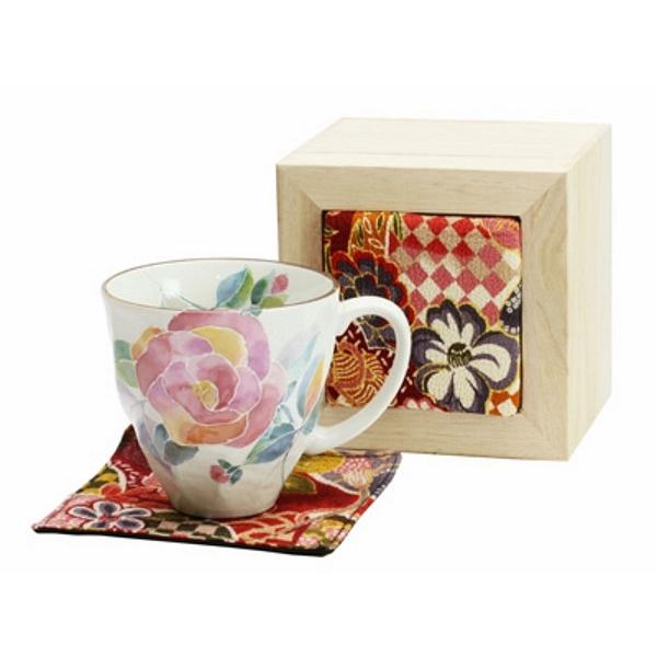 花ことば マグカップ バラ (ちりめん木箱)