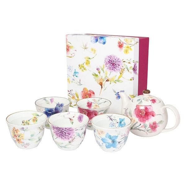 花水彩 5客ポット茶器