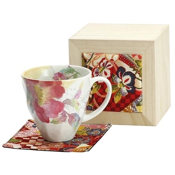 花みさき マグカップ シャクヤク (ちりめん木箱)