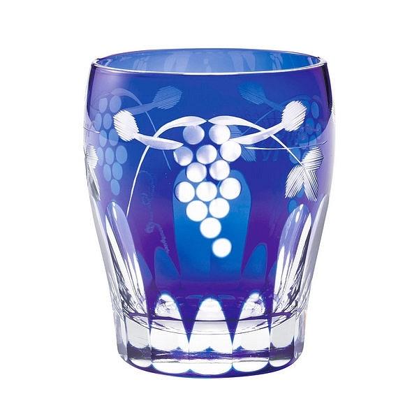 すみだ江戸切子館 タンブラー 葡萄 (藍)