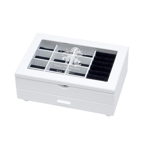 ジュエリーボックス ホワイト S