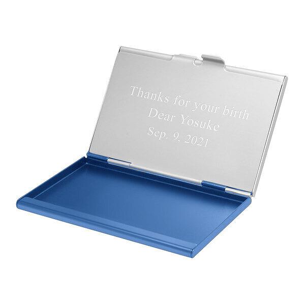デュアルカードケース ブルー