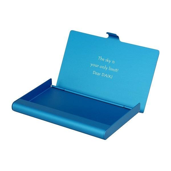 カードケース アルミニウム ブルー