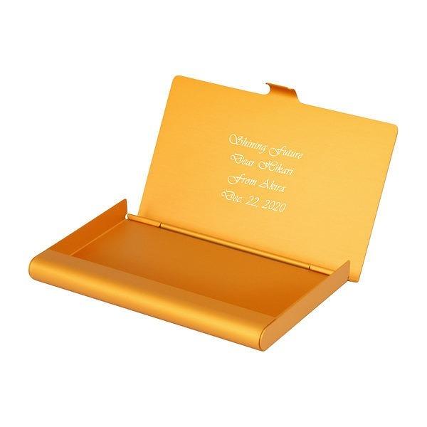 カードケース アルミニウム オレンジゴールド