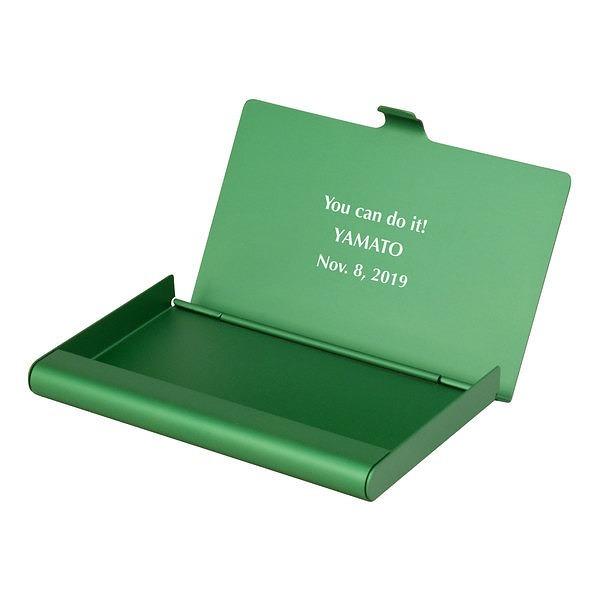 カードケース アルミニウム グリーン