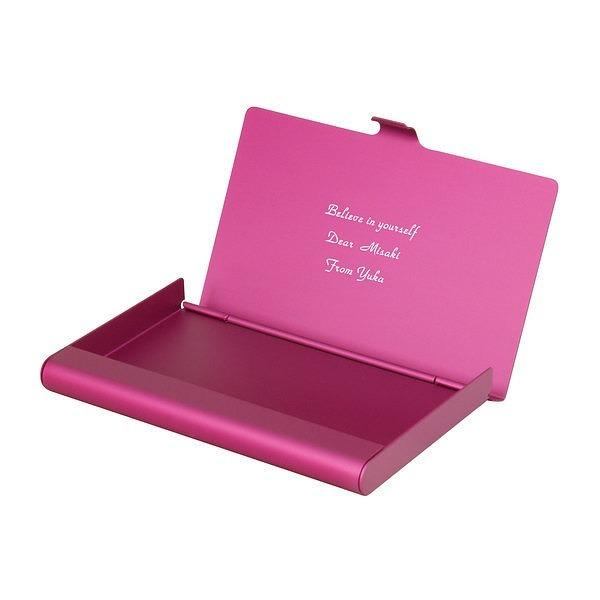 カードケース アルミニウム ピンク