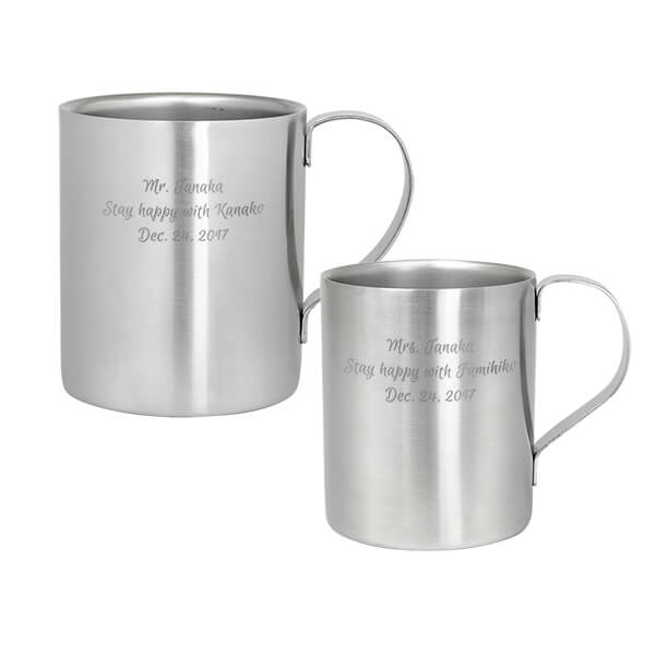 ペアマグカップ ダブルウォールステンレス