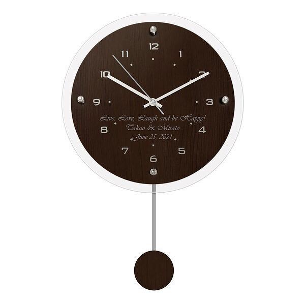 ペンデュラムクロック アンティール ブラウン (電波時計)