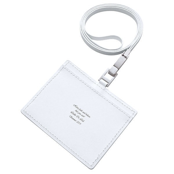 レザー ID カードホルダー ホワイト