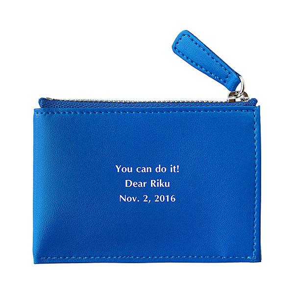 フラットコインケース ブルー