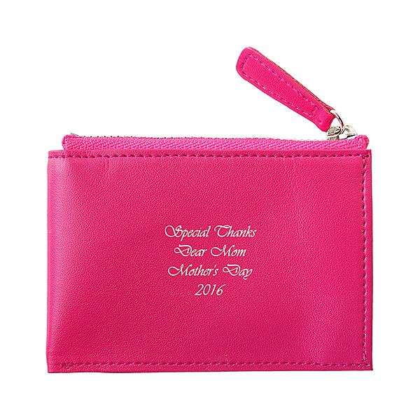 フラットコインケース ピンク