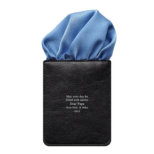 カードポケットチーフ パッフドブルー