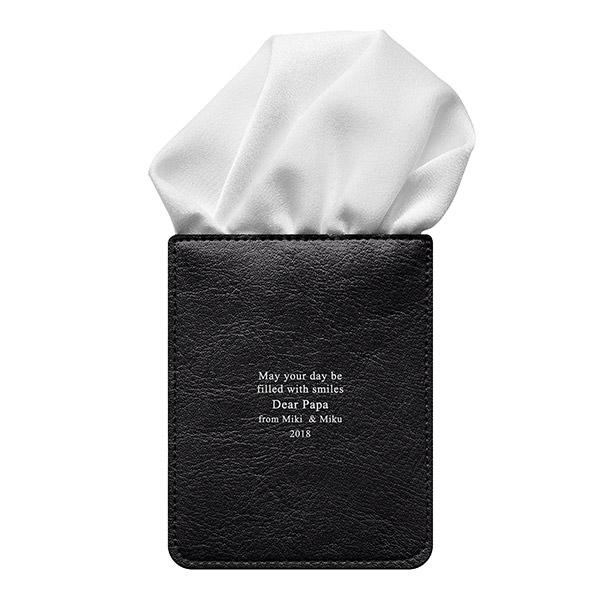カードポケットチーフ パッフドホワイト