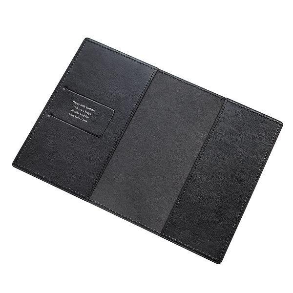 レザーブックカバー ブラック