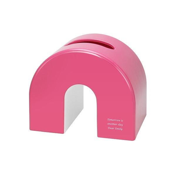 アーチティッシュケース ピンク
